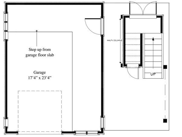 Cottage Floor Plan - Lower Floor Plan Plan #917-8