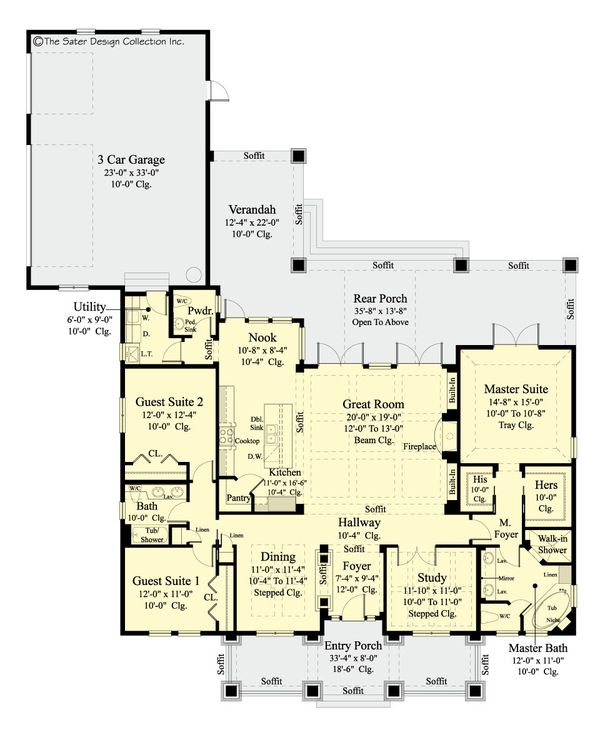 House Design - Craftsman Floor Plan - Main Floor Plan #930-462