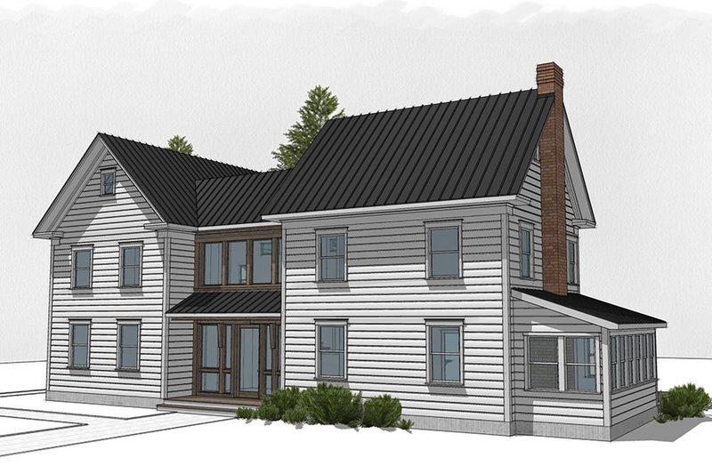 Dream House Plan - Farmhouse Exterior - Front Elevation Plan #485-4