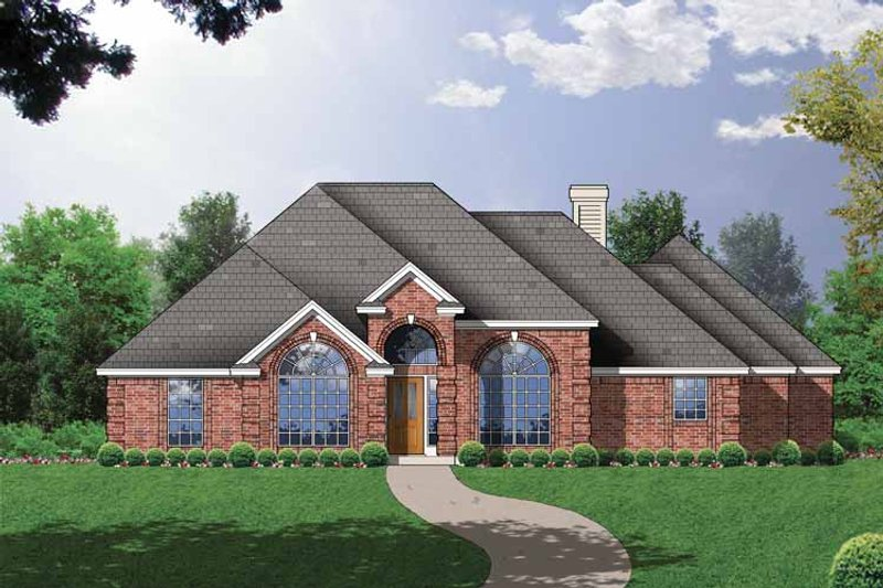 Ranch Exterior - Front Elevation Plan #40-451