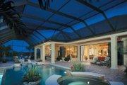 Mediterranean Style House Plan - 4 Beds 4.5 Baths 4398 Sq/Ft Plan #930-107 Exterior - Rear Elevation