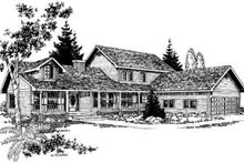 Dream House Plan - Traditional Exterior - Front Elevation Plan #60-276