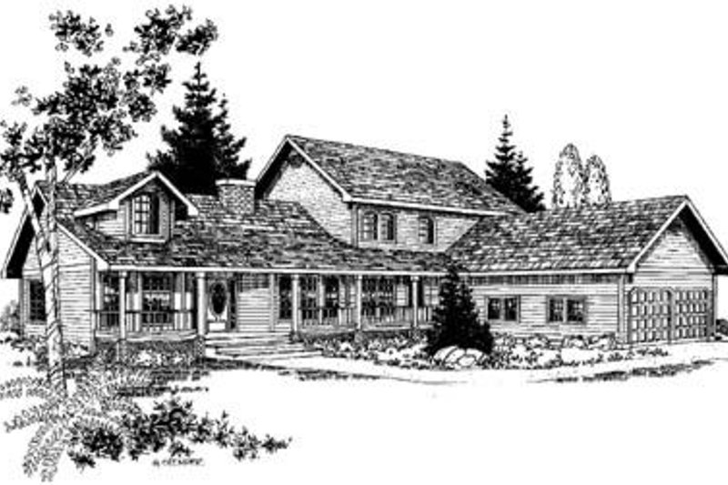 Traditional Exterior - Front Elevation Plan #60-276 - Houseplans.com