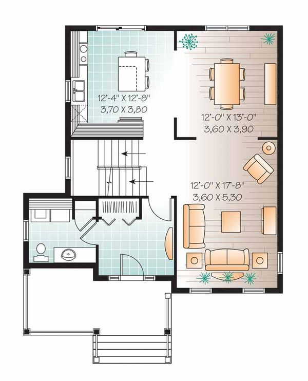 Country Floor Plan - Main Floor Plan Plan #23-2550