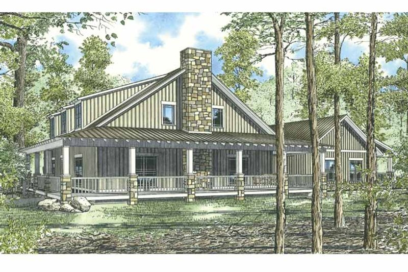 Country Exterior - Front Elevation Plan #17-2917 - Houseplans.com