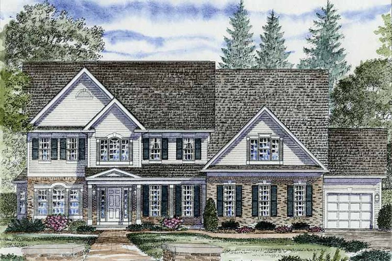 Colonial Exterior - Front Elevation Plan #316-250