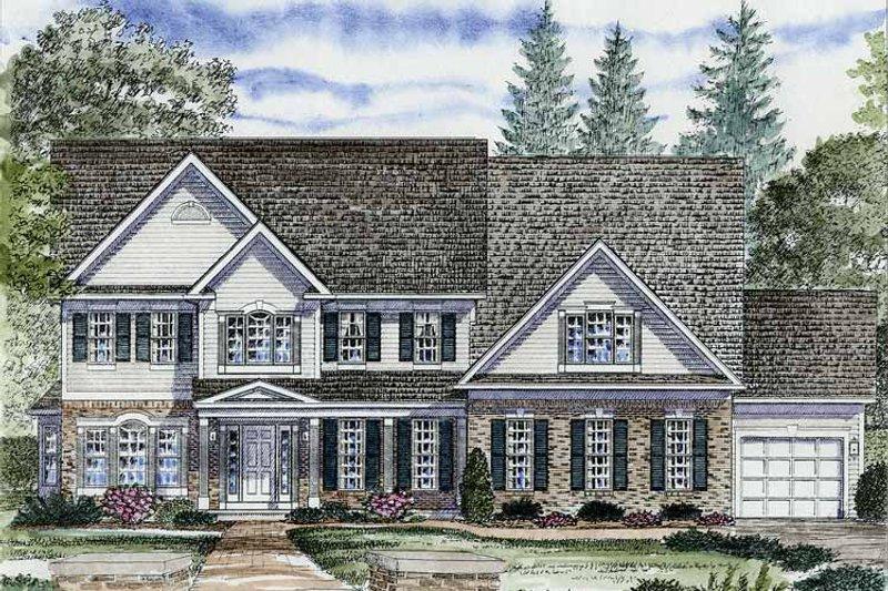 Colonial Exterior - Front Elevation Plan #316-250 - Houseplans.com