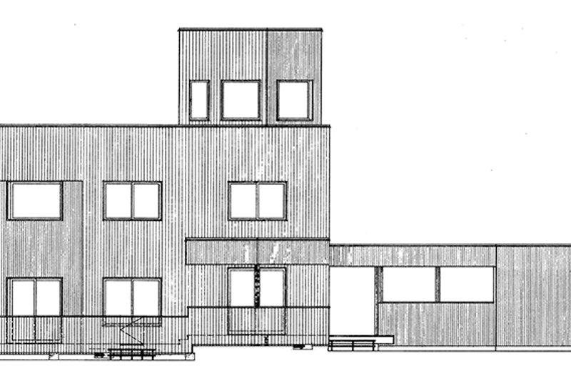 Contemporary Exterior - Rear Elevation Plan #320-1018 - Houseplans.com