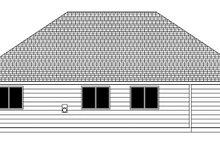 Craftsman Exterior - Rear Elevation Plan #943-48