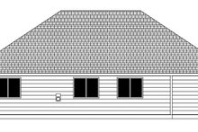 Craftsman Exterior - Rear Elevation Plan #943-48