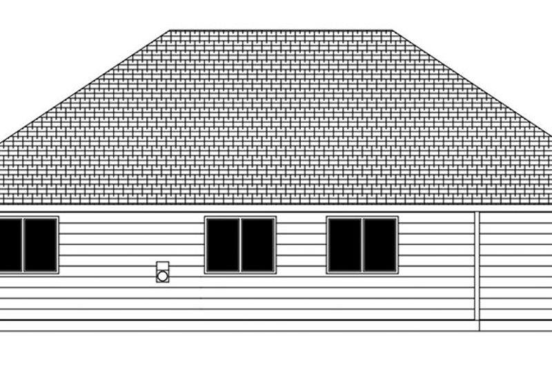 Craftsman Exterior - Rear Elevation Plan #943-48 - Houseplans.com