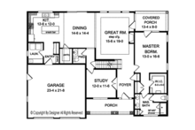 Country Floor Plan - Main Floor Plan Plan #1010-153
