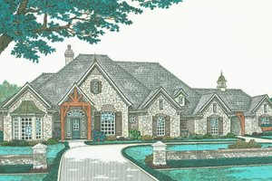 European Exterior - Front Elevation Plan #310-331