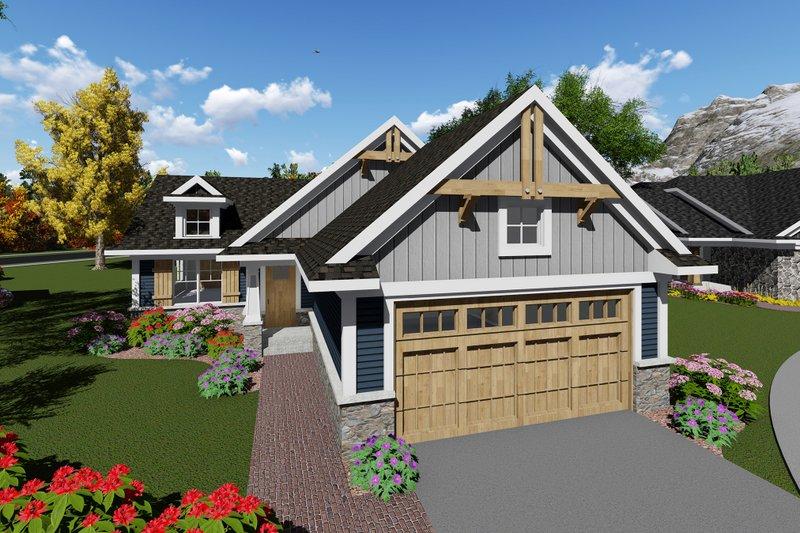 Home Plan - Craftsman Exterior - Front Elevation Plan #70-1257