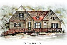 Architectural House Design - Cottage Exterior - Front Elevation Plan #54-137