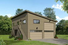 Dream House Plan - Contemporary Exterior - Front Elevation Plan #932-71