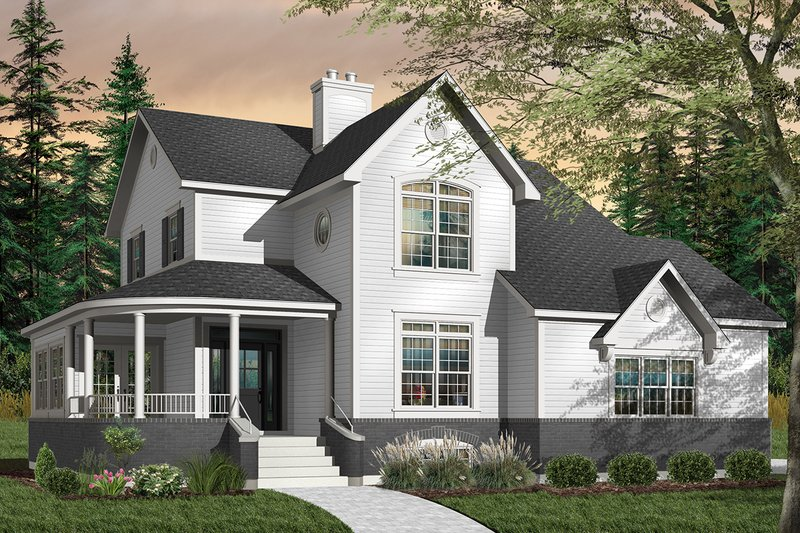 Dream House Plan - Farmhouse Exterior - Front Elevation Plan #23-748