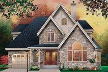House Design - European Exterior - Front Elevation Plan #23-483
