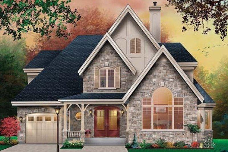 Home Plan - European Exterior - Front Elevation Plan #23-483