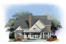 Craftsman Exterior - Rear Elevation Plan #929-844