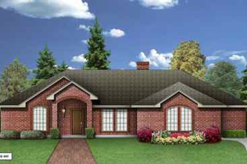 Traditional Exterior - Front Elevation Plan #84-134 - Houseplans.com