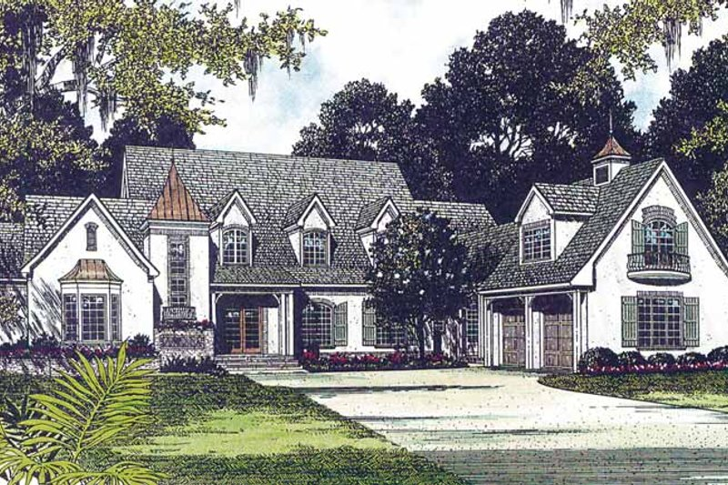 Dream House Plan - Country Exterior - Front Elevation Plan #453-235