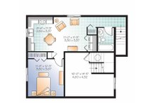Traditional Floor Plan - Lower Floor Plan Plan #23-2507