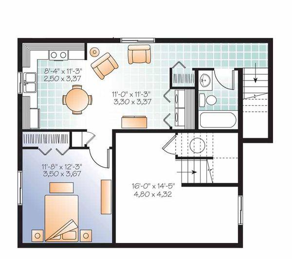 House Plan Design - Traditional Floor Plan - Lower Floor Plan #23-2507