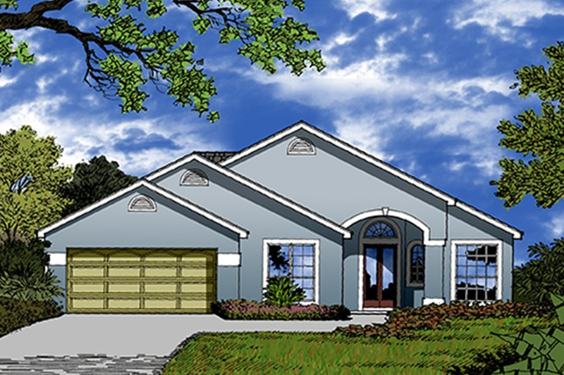 House Plan Design - Mediterranean Exterior - Front Elevation Plan #417-830
