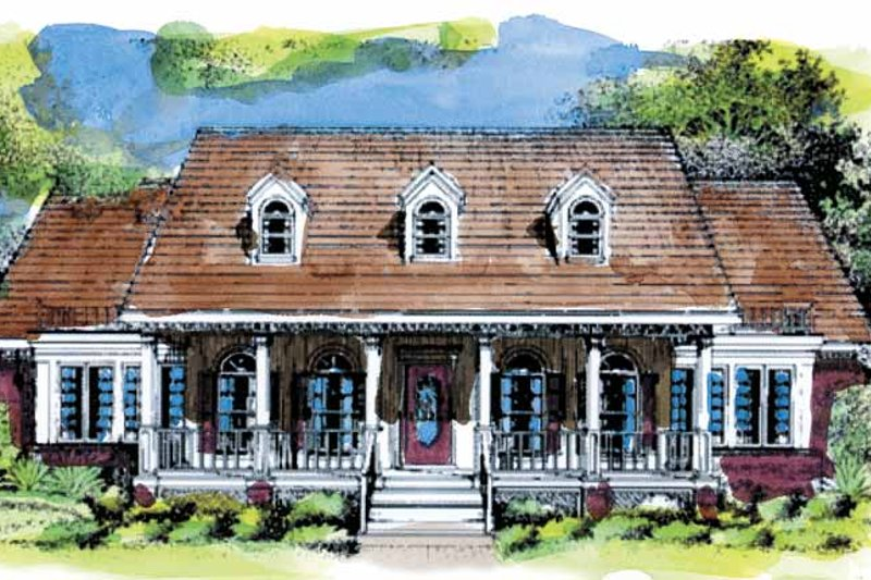 Colonial Exterior - Front Elevation Plan #320-965