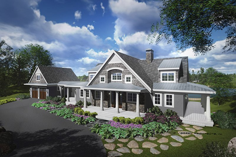 Architectural House Design - Traditional Exterior - Front Elevation Plan #928-262