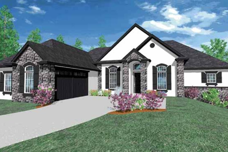 Traditional Exterior - Front Elevation Plan #509-347