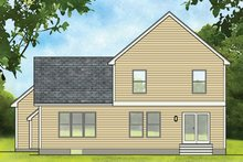 Colonial Exterior - Rear Elevation Plan #1010-182