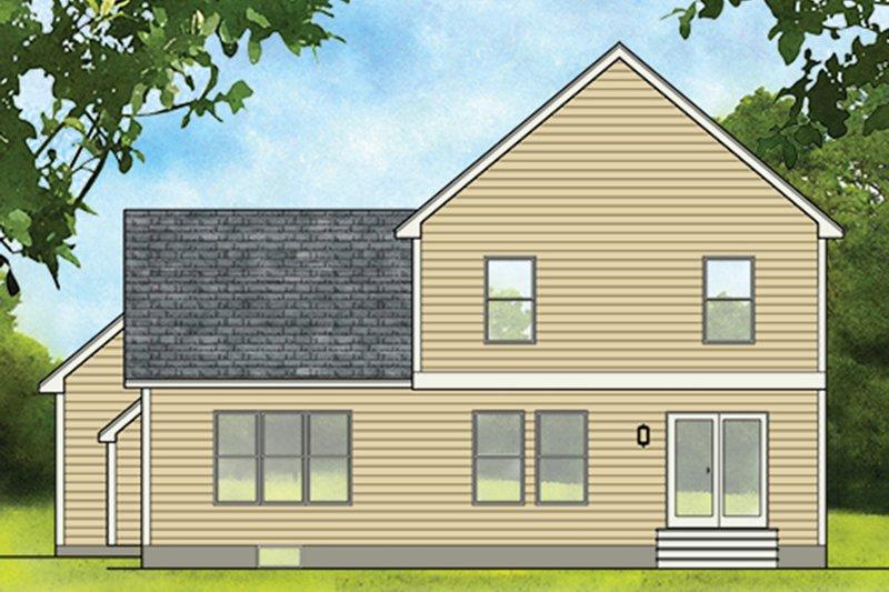 Colonial Exterior - Rear Elevation Plan #1010-182 - Houseplans.com