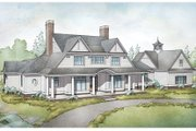 Country Style House Plan - 4 Beds 4.5 Baths 4729 Sq/Ft Plan #928-284 Exterior - Front Elevation