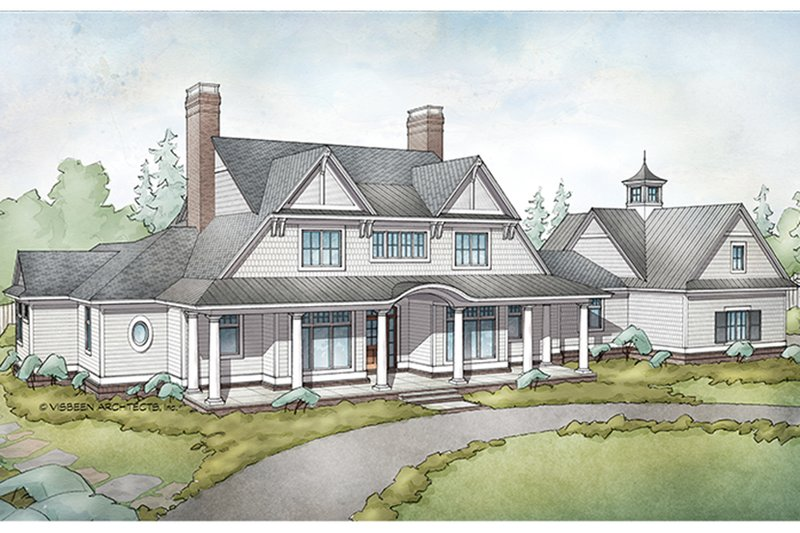 Country Exterior - Front Elevation Plan #928-284