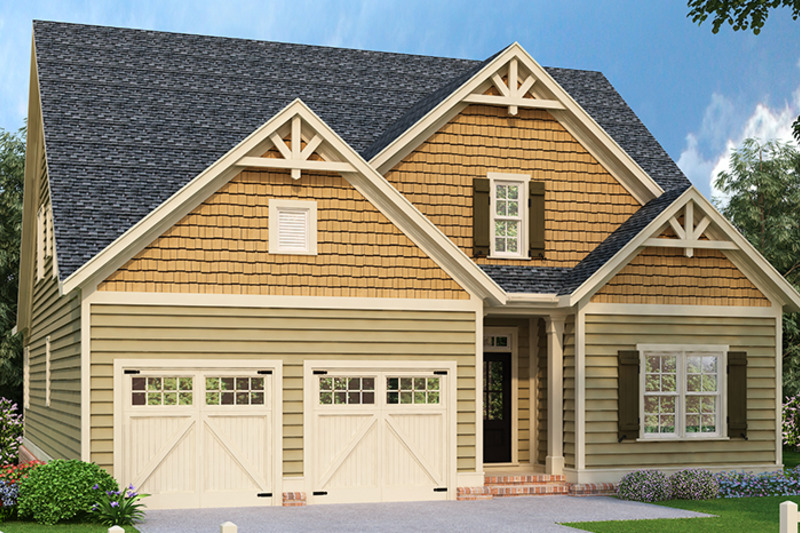 Traditional Exterior - Front Elevation Plan #927-971 - Houseplans.com