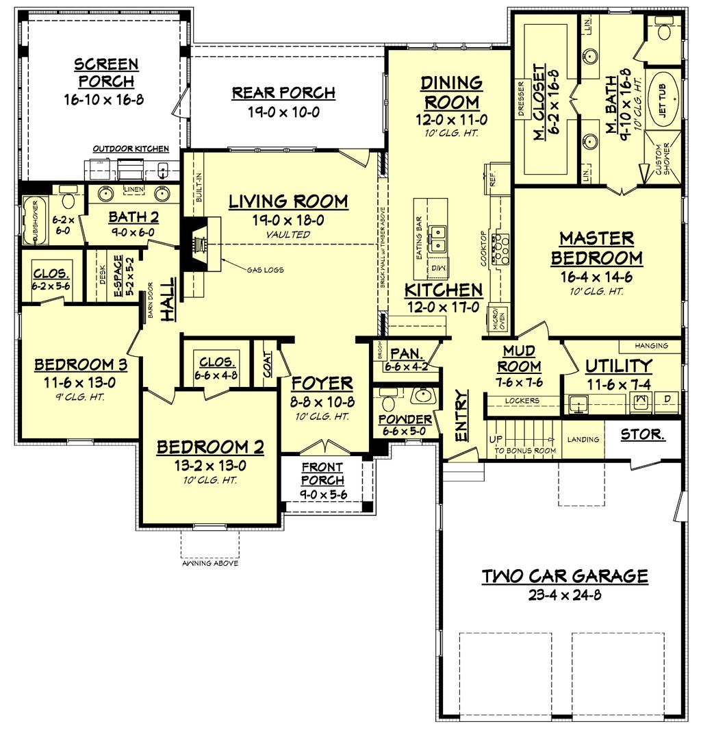 Farmhouse Style House Plan - 3 Beds 2.5 Baths 2316 Sq/Ft ... on