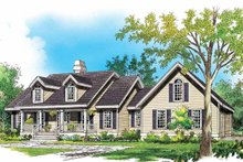 Country Exterior - Front Elevation Plan #929-789