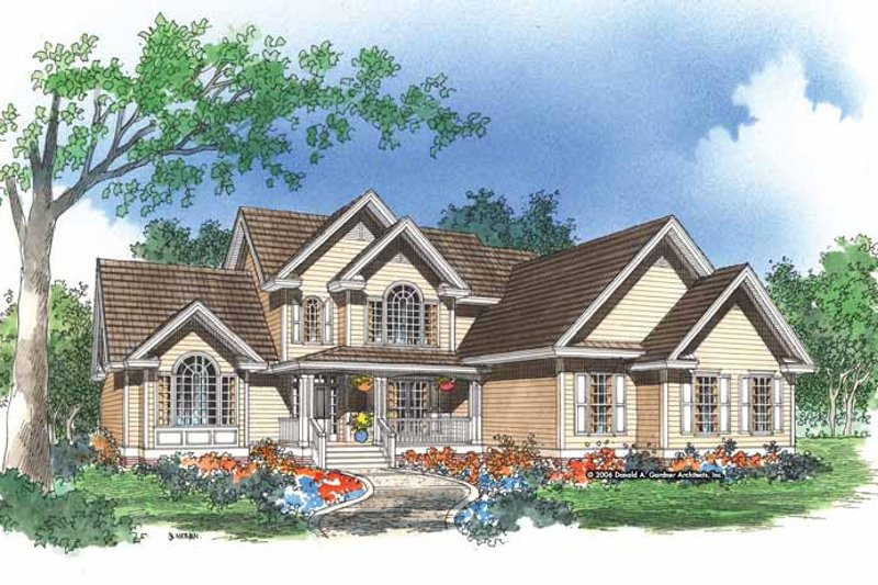 Country Exterior - Front Elevation Plan #929-391