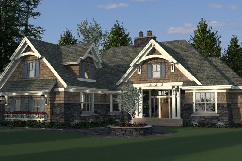 Craftsman Style House Plan - 4 Beds 3 Baths 2370 Sq/Ft Plan #51-570