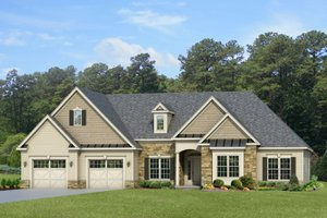 Home Plan - Ranch Exterior - Front Elevation Plan #1010-87