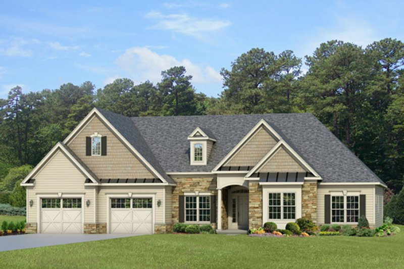 Ranch Exterior - Front Elevation Plan #1010-87