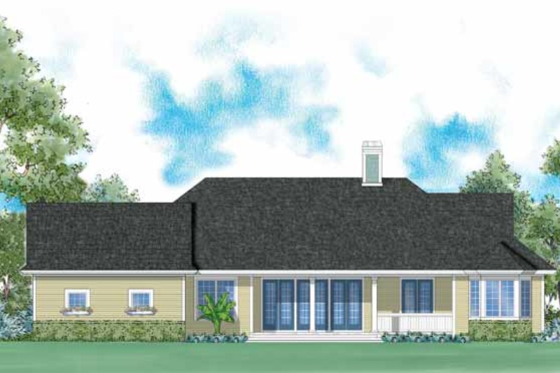 Colonial Exterior - Rear Elevation Plan #930-244 - Houseplans.com