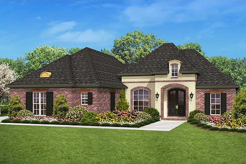 European Style House Plan - 3 Beds 2 Baths 1800 Sq/Ft Plan #430-27