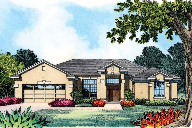 Contemporary Exterior - Front Elevation Plan #1015-9