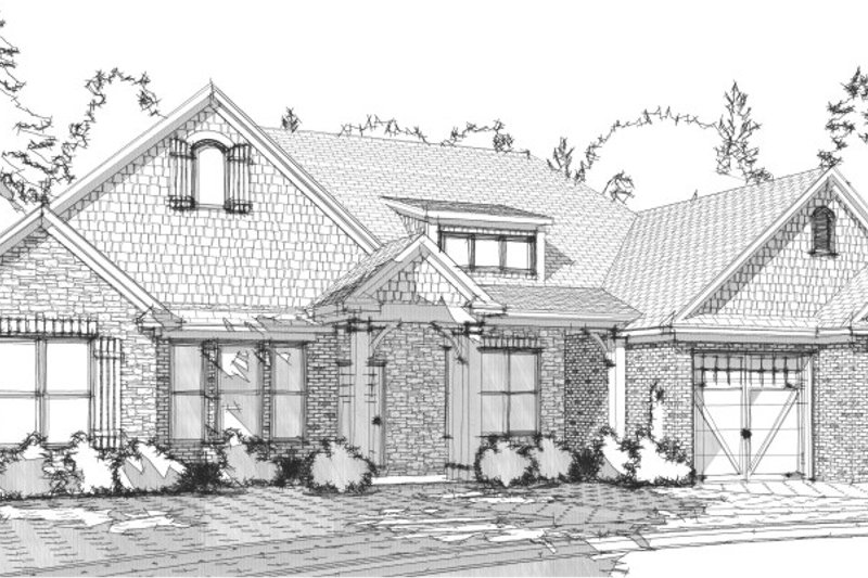 European Style House Plan - 3 Beds 2.5 Baths 2326 Sq/Ft Plan #63-204 Exterior - Front Elevation