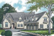 Architectural House Design - Country Exterior - Front Elevation Plan #453-244