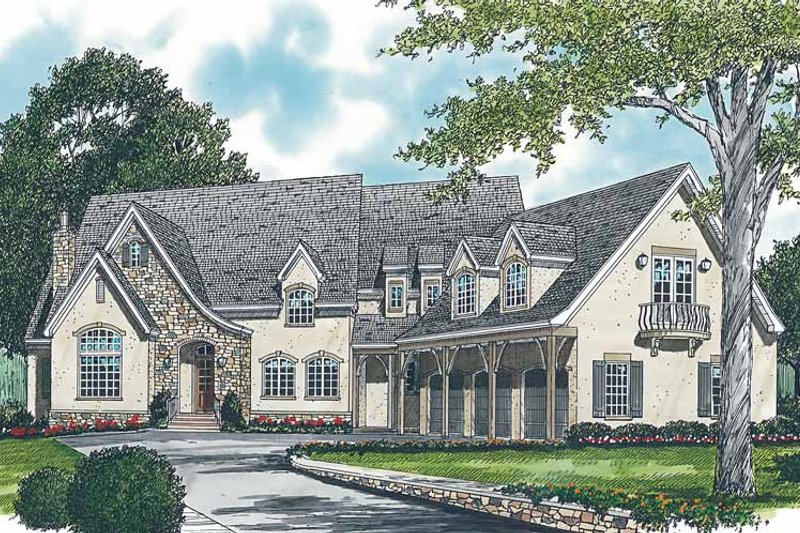 Dream House Plan - Country Exterior - Front Elevation Plan #453-244