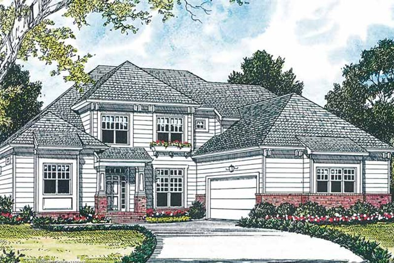 Traditional Exterior - Front Elevation Plan #453-158 - Houseplans.com